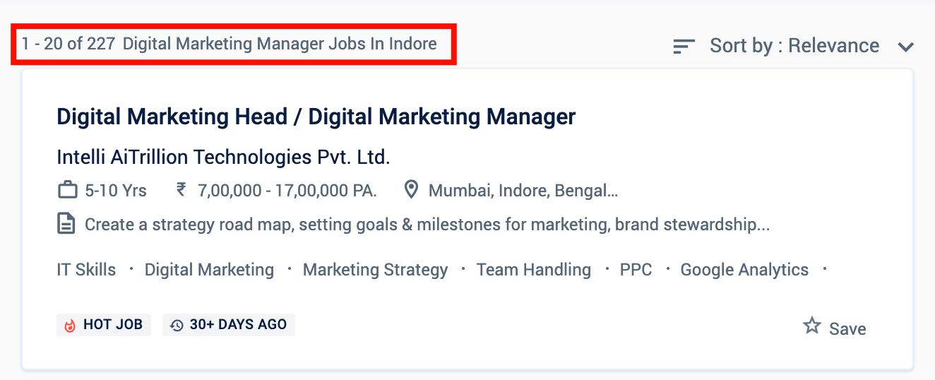 Digital marketing jobs in Indore - Digital marketing Courses in Indore